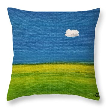 Throw Pillow featuring the painting Alone And Fine by Judith Rhue