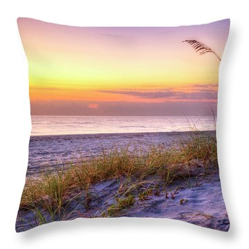 Throw Pillow featuring the photograph Alone At Dawn by Debra and Dave Vanderlaan
