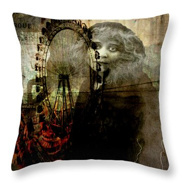 Throw Pillow featuring the digital art Alone At The Fair by Delight Worthyn