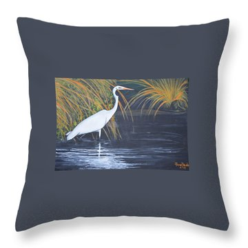 Alone But Happy Throw Pillow