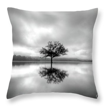 Alone Bw Throw Pillow