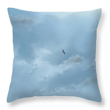 Throw Pillow featuring the digital art Alone by Darren Cannell