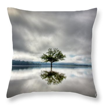 Throw Pillow featuring the photograph Alone by Douglas Stucky