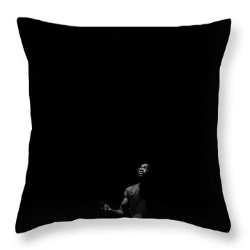 Throw Pillow featuring the photograph Alone? by Eric Christopher Jackson