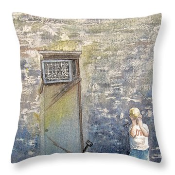 Alone Throw Pillow by Gale Cochran-Smith