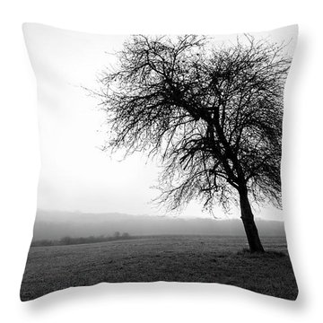 Throw Pillow featuring the photograph Alone In A Field by Andrew Pacheco