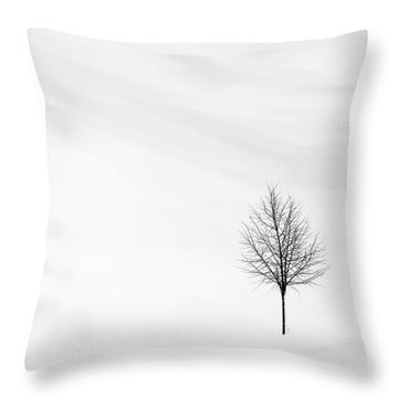 Alone In The Storm Throw Pillow