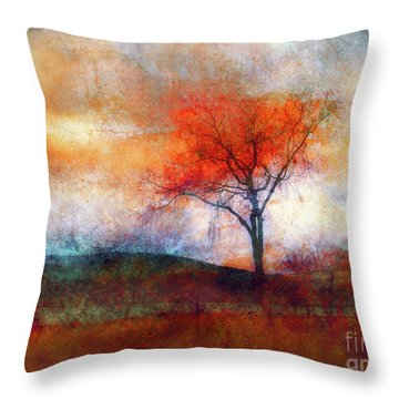 Alone In Colour Throw Pillow by Tara Turner