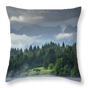 Alone In German Alps Throw Pillow