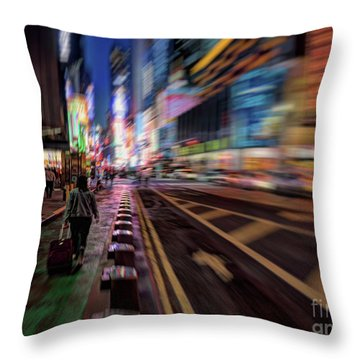 Alone In New York City 2 Throw Pillow