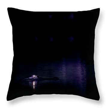 Throw Pillow featuring the photograph Alone In The Dark by Mark Andrew Thomas
