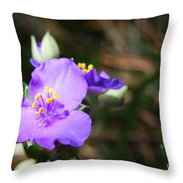 Alone In The Garden Throw Pillow by Linda Mesibov
