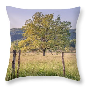 Alone In The Pasture Throw Pillow