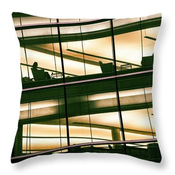 Alone In The Temple Throw Pillow