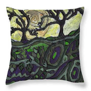 Alone In The Woods Throw Pillow