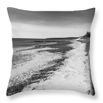 Throw Pillow featuring the photograph Alone by Michelle Wiarda