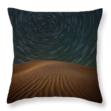 Throw Pillow featuring the photograph Alone On The Dunes by Darren White