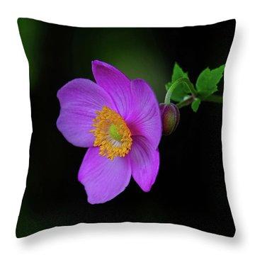 Anenome Purple Throw Pillow