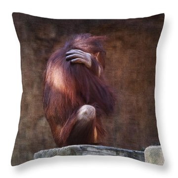 Throw Pillow featuring the photograph Alone by Sharon Jones