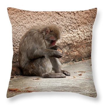 Alone With My Bread Crumbs Throw Pillow