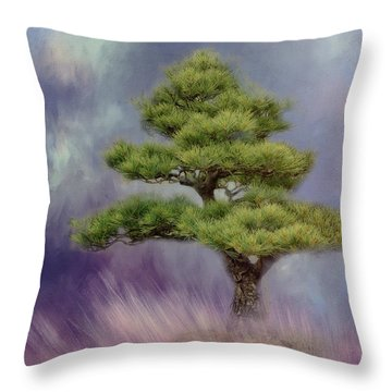 Alone With Myself Throw Pillow