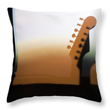 Along 6th Street Throw Pillow
