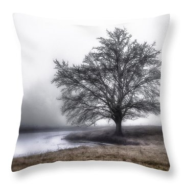Along A Pond Throw Pillow