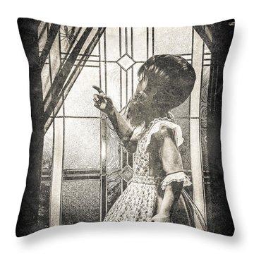 Along Came A Spider Throw Pillow by Bob Orsillo