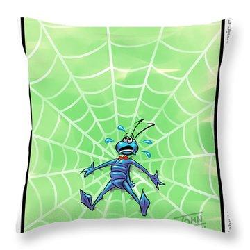 Along Came A Spider Panel Throw Pillow