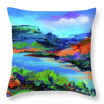 Along Colorado River - Utah Throw Pillow