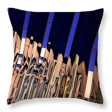 Along Euclid, Cleveland Throw Pillow