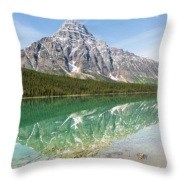 Along Highway 93 Throw Pillow