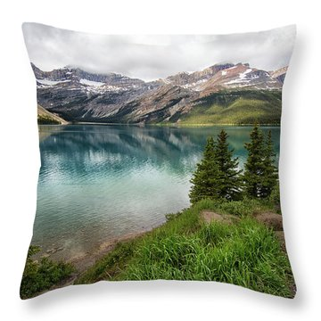 Along Icefields Parkway Throw Pillow
