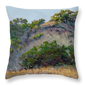 Along Jalama Creek Throw Pillow