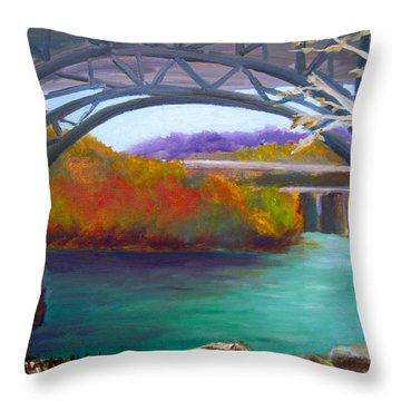 Along Kelly Drive Throw Pillow by Marita McVeigh