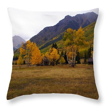 Along The Alpine Loop 2 Throw Pillow by Marty Koch