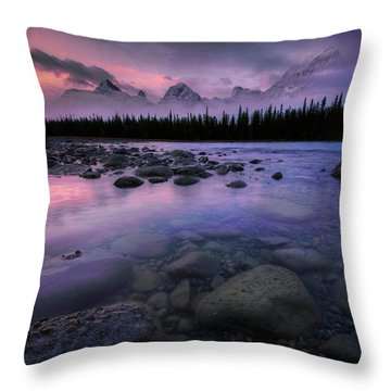 Along The Athabasca Throw Pillow