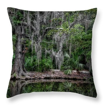Throw Pillow featuring the photograph Along The Bank by Michael Colgate