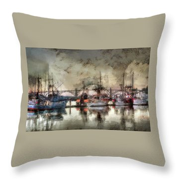 Throw Pillow featuring the photograph Along The Bay Front by Thom Zehrfeld