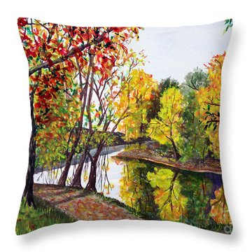 Along The Blanchard Throw Pillow