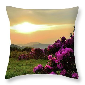 Along The Blue Ridge Throw Pillow