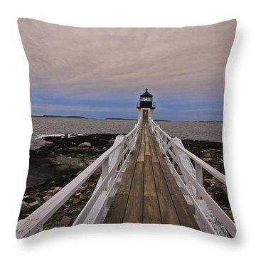 Along The Boardwalk Throw Pillow