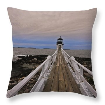 Along The Boardwalk Throw Pillow