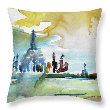 Along The Chao Phaya River Throw Pillow by Tom Simmons