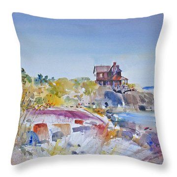 Along The Coast Throw Pillow