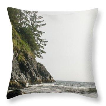 Along The Coast Throw Pillow