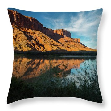 Throw Pillow featuring the photograph Along The Colorado by Gary Lengyel