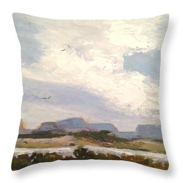 Along The Columbia Throw Pillow