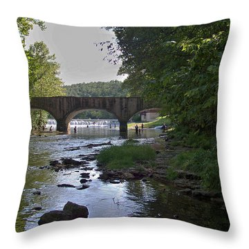 Along The Creek Throw Pillow by Julie Grace