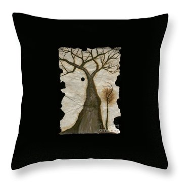 Along The Crumbling Fork In The Road Of The Tree Of Life Acfrtl Throw Pillow